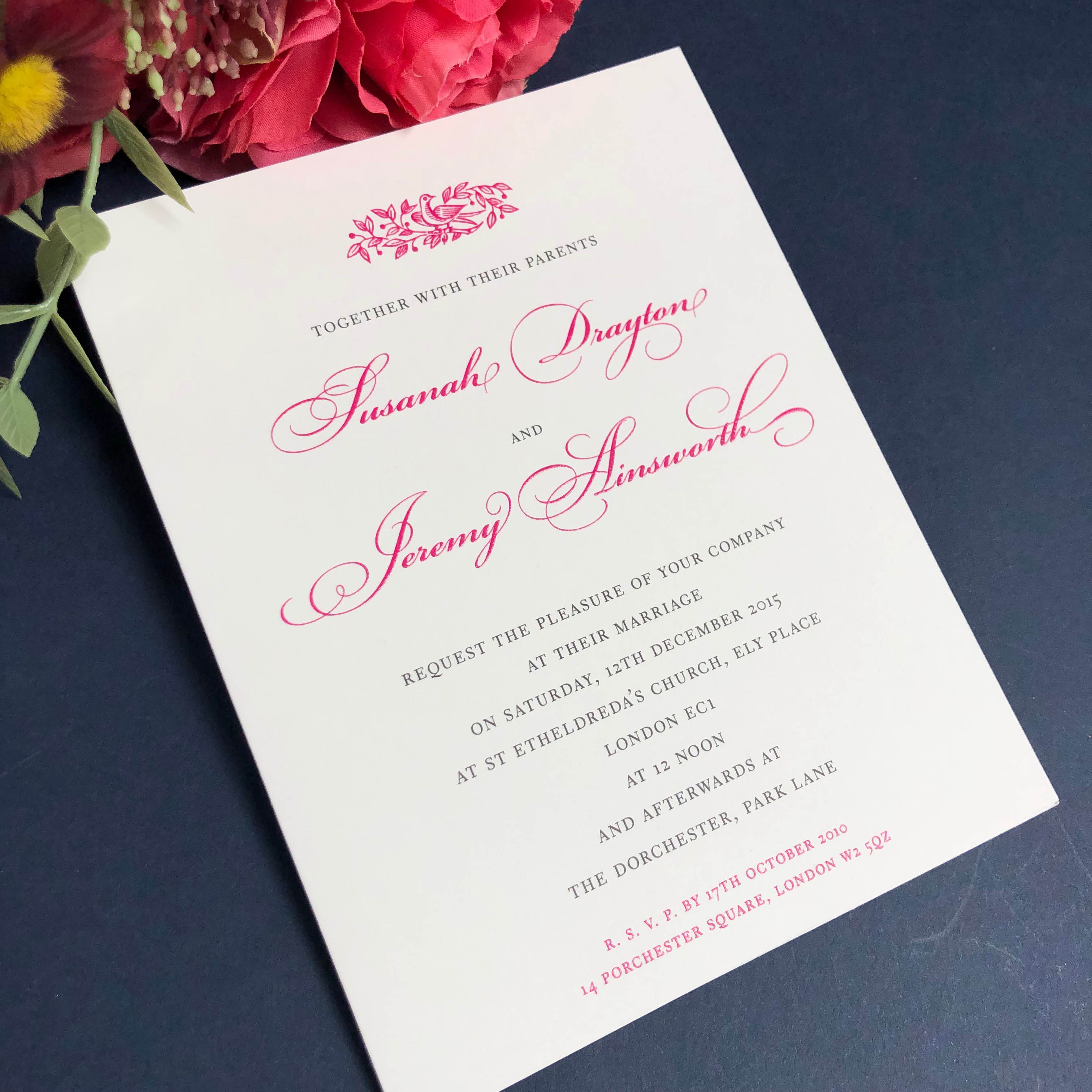 Electra wedding invitations