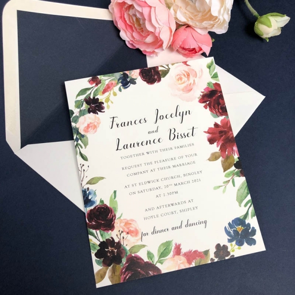 Frances wedding invitation
