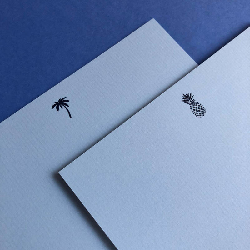 blue notecards