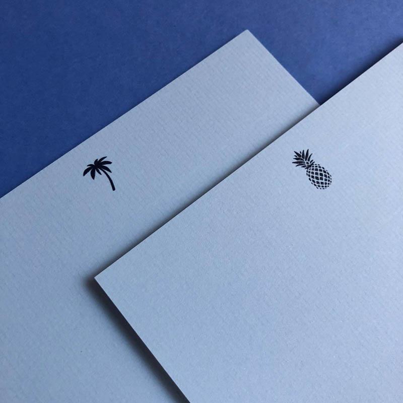 blue notecards