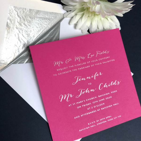 Jennifer wedding invitation