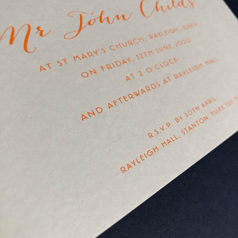 Jennifer wedding invitation