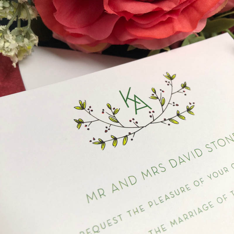 berries wedding invitation