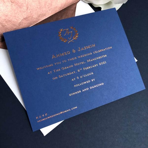 Jamsin wedding invitation