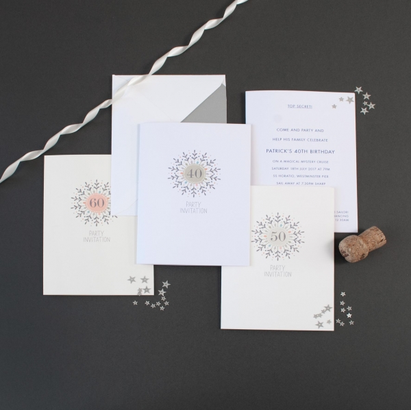 starburst party invitations