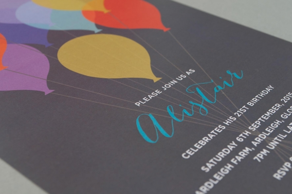 balloon birthday invitations