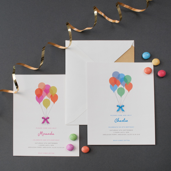 Children's Balloon Party Invitation