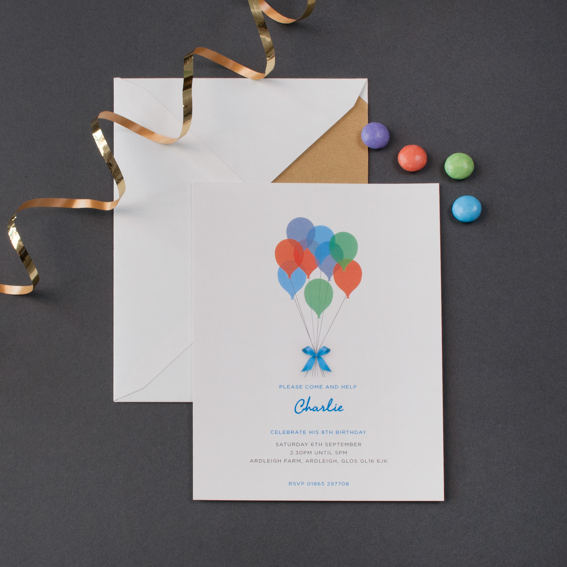 Children's Balloon Party Invitation