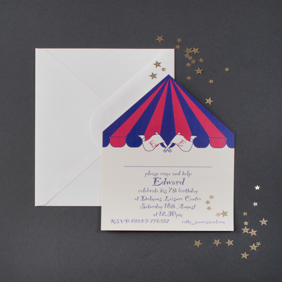 Circus Tent Children's Party Invitation