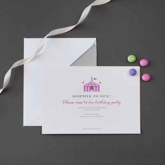 luxury motif childrens party invitation