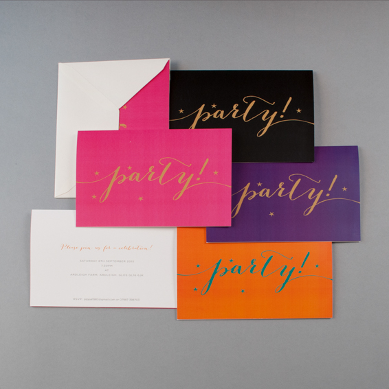folded party invitations