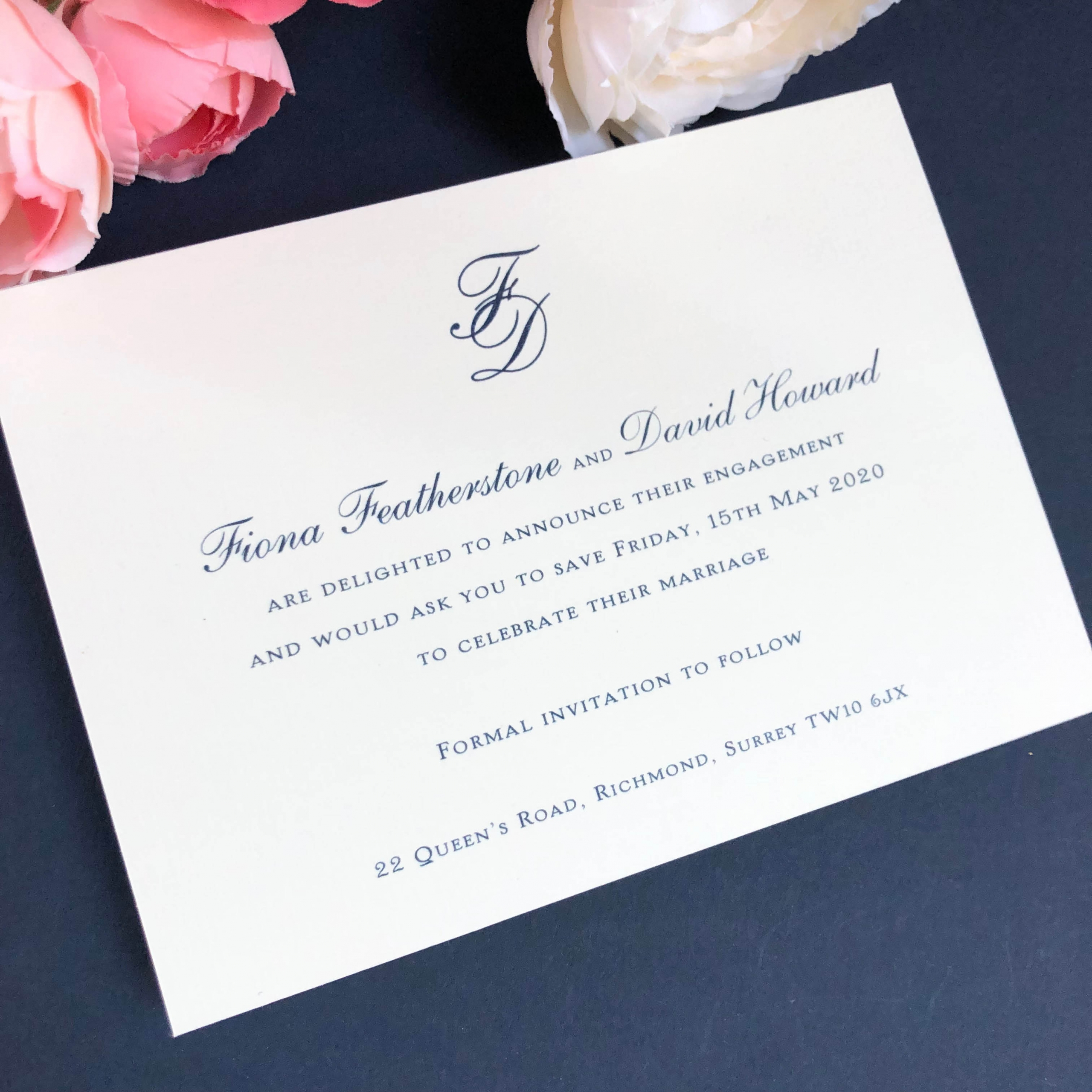 Charlwood Save the Date Card