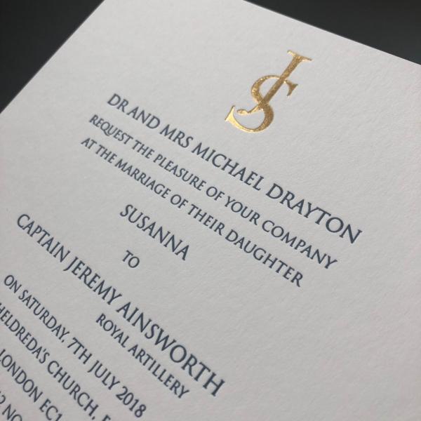 Gilded Wedding Invitation