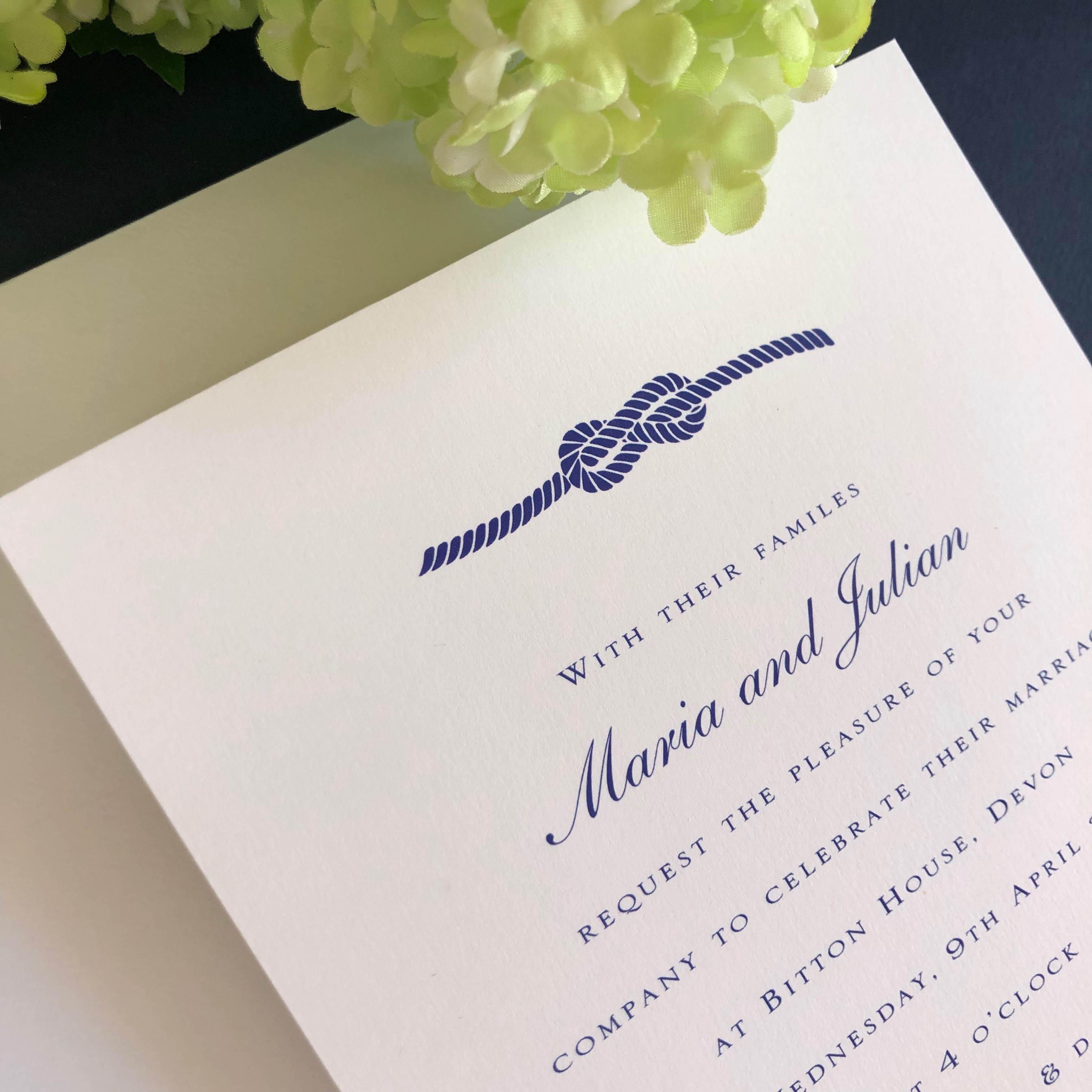Knot wedding invitations