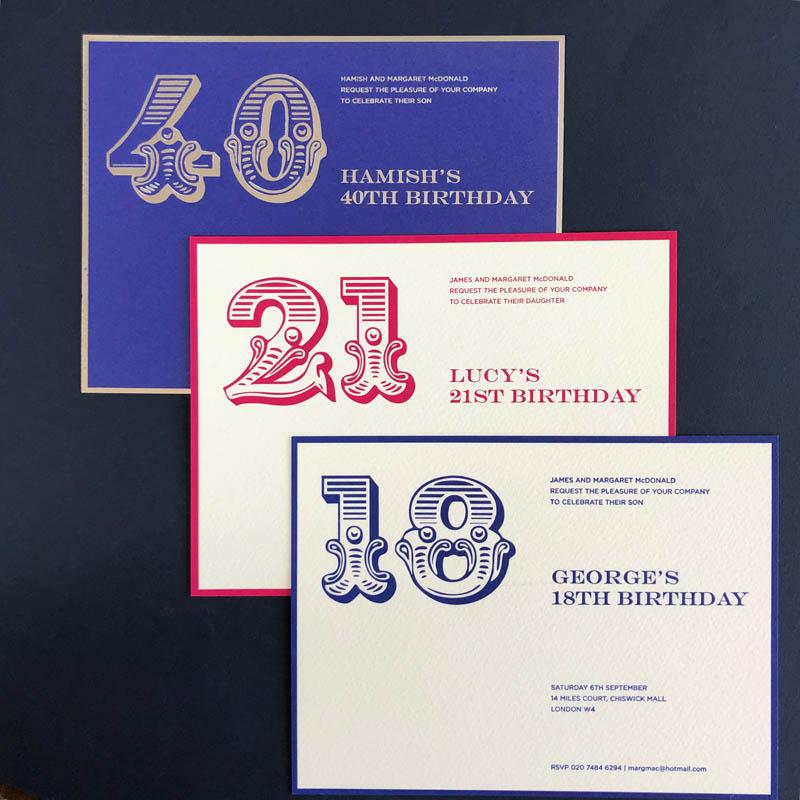 foiled letterpress invitations