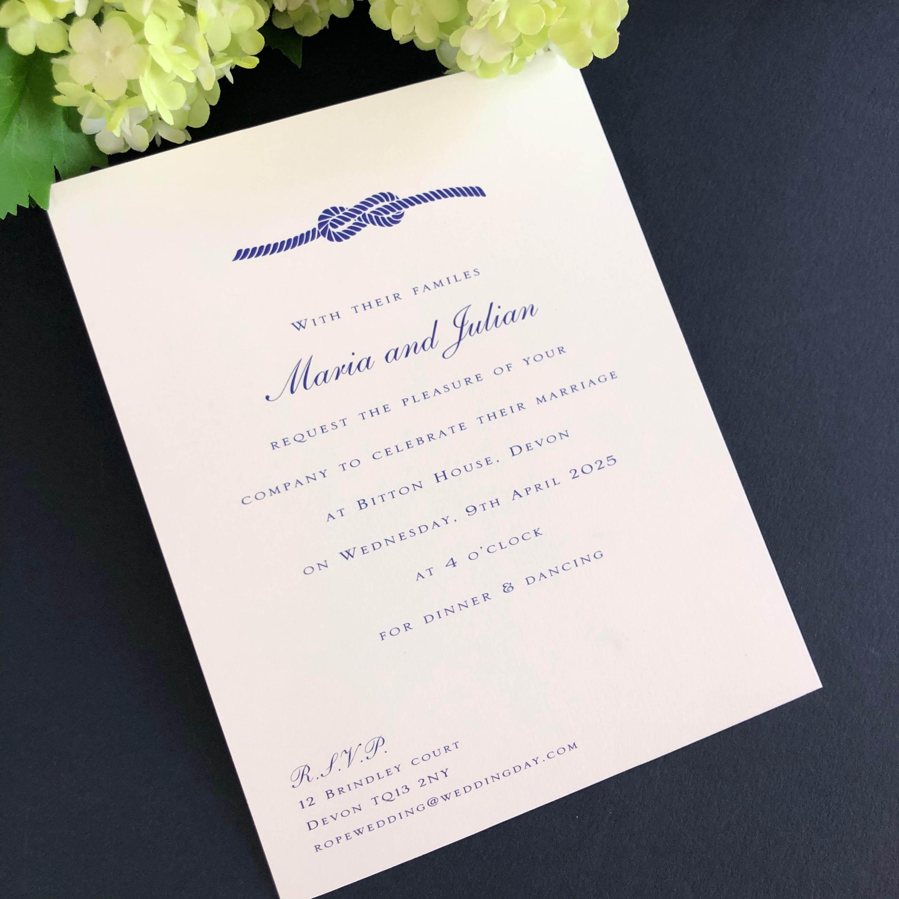 Knot Wedding Invitation