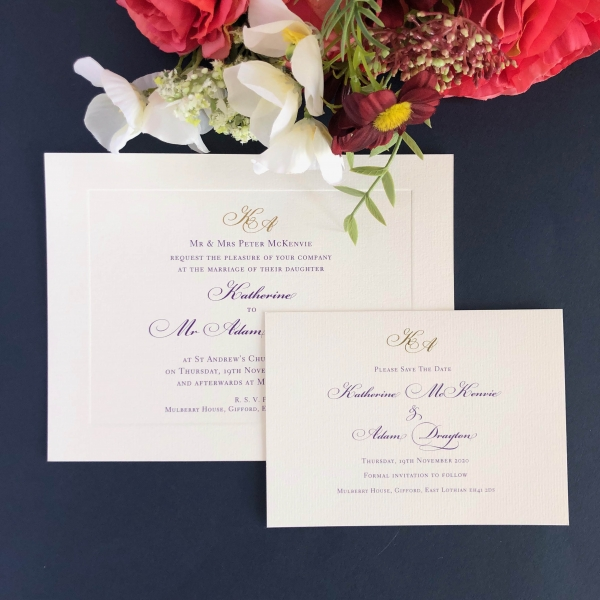 Mulberry Save the Date cards