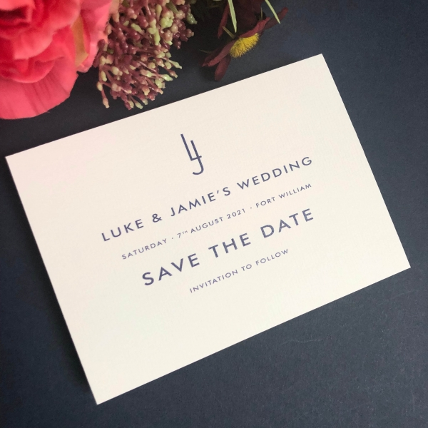 Jamie Save the Date cards