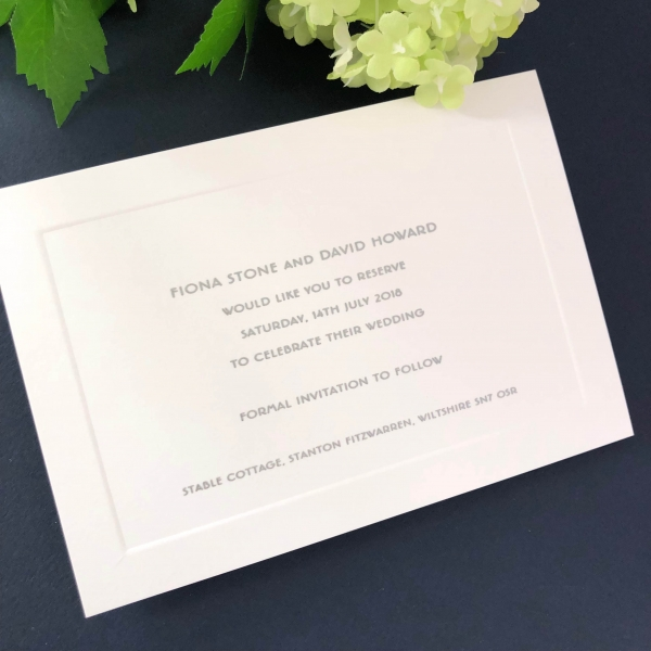 Bond Street Save the Date cards