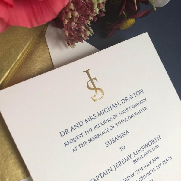 Gilded Wedding Invitations