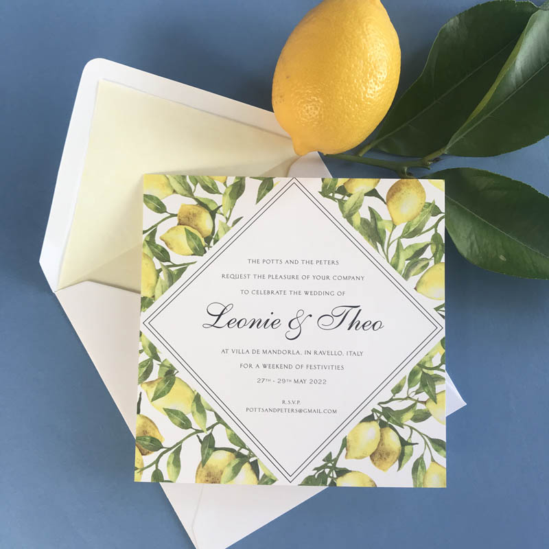 Leonie wedding invitations