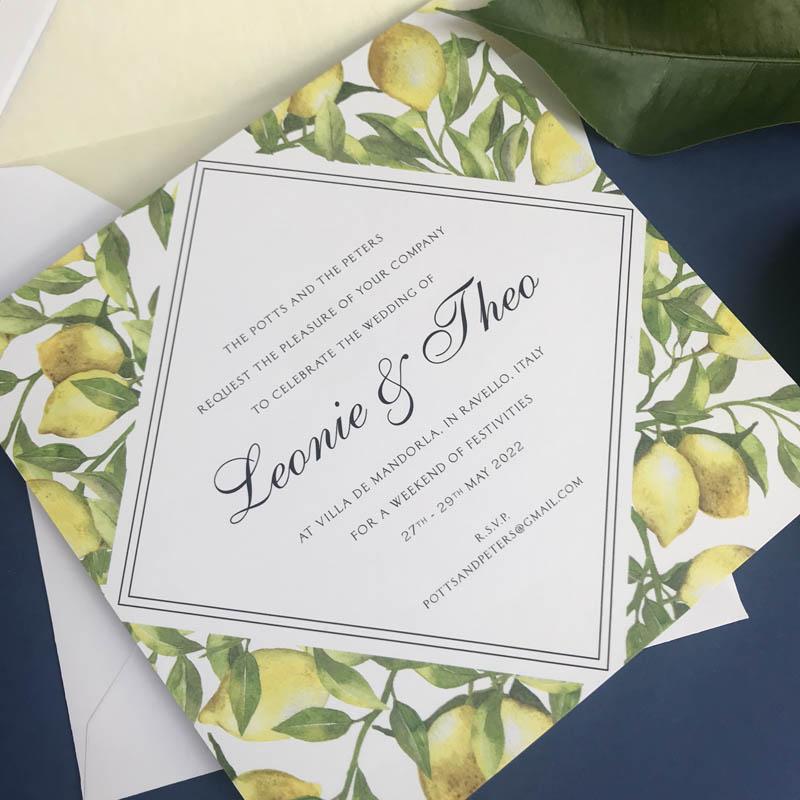 Leonie wedding invitations