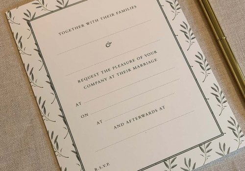 Wedding Invitation Packs